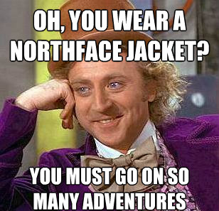 Northface Jacket? You Must Go On So Many Adventures